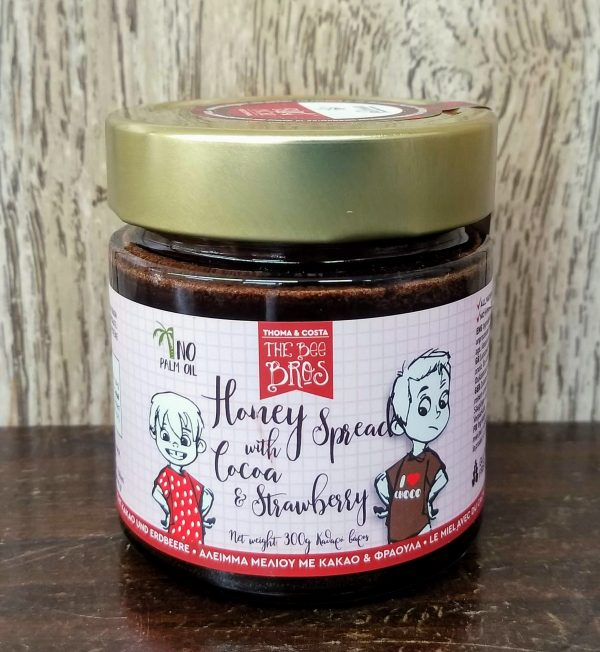Greek Honey with Cocoa & Strawberry